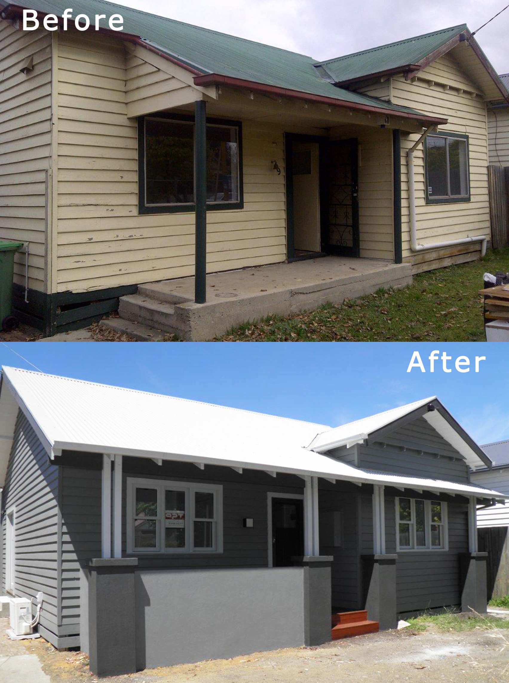 Before & After - facade