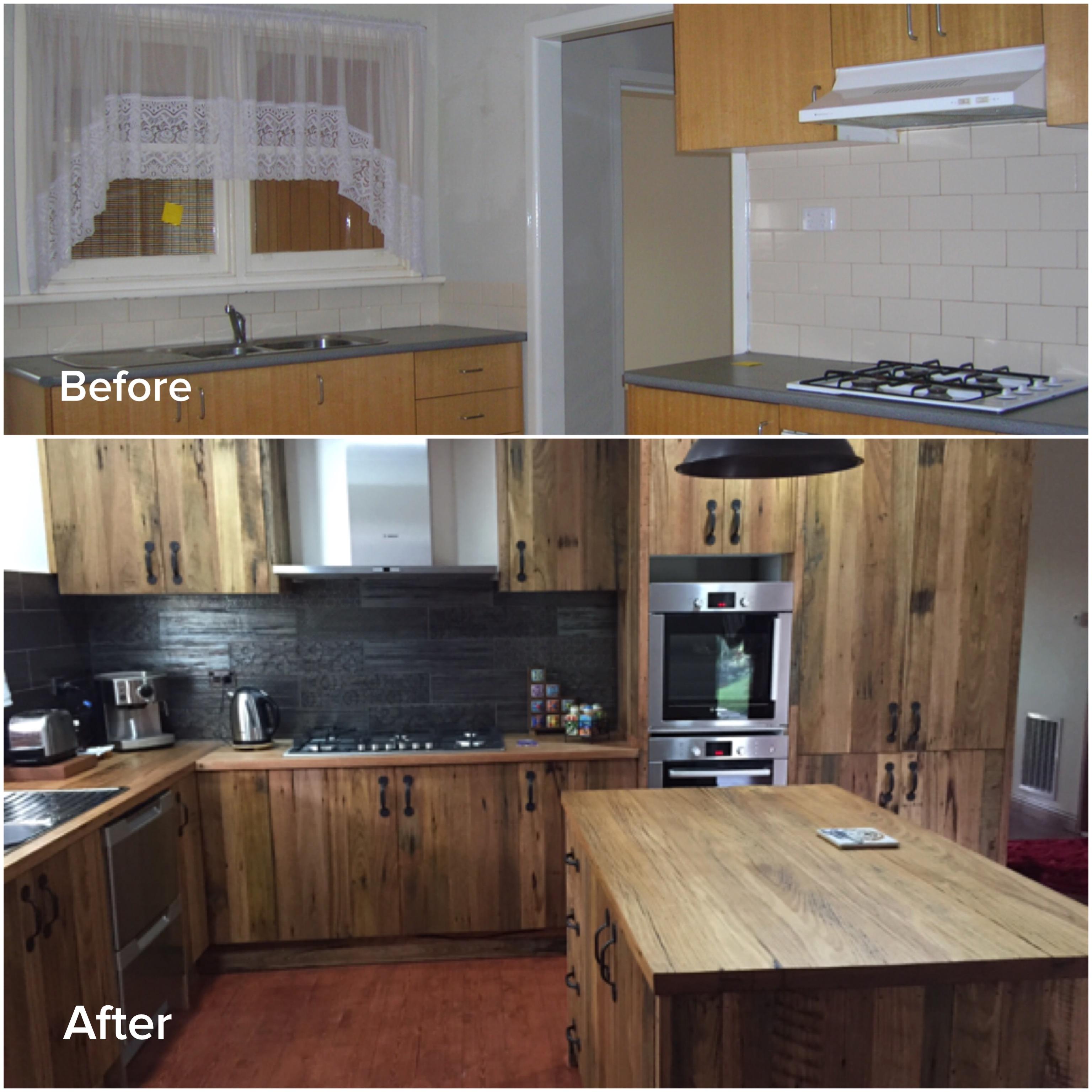 kinsale - kitchen before after